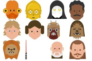 Star Wars - color Icons