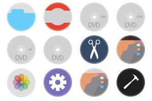Red Orb Alphabet Icons