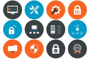 Web Hosting & Technical Support Icons