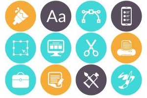 The Graphic Designers Toolkit in Icons