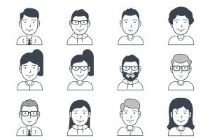 User avatars icons