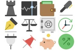 The Nucleo Flat Business Icons