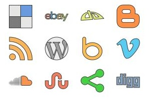 category social network icons