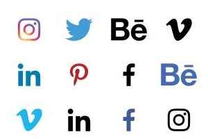Social Signature Icons